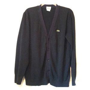 Lacoste black knit sweater cardigan size 5/Medium